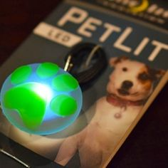Nite Ize Green Paw LED Pet Collars, Pet Products, Your Pet, Led, Green, Pet Supplies