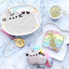 """Feline fancy 🦄🌈💖 - Happy Sunday friends!"" Pushing Cat, Yummy Treats, Yummy Food, Delicious Desserts, Food Crafts, Cute Food, Happy Sunday Friends, Cute Unicorn, Unicorn Pictures"