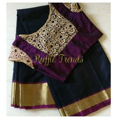 Unique choices of sarees with best matching pretty blouses made special for gorgeous you Simple Blouse Designs, Saree Blouse Neck Designs, Stylish Blouse Design, Designer Blouse Patterns, Summer Clothes, Diy Clothes, Dresses Art, Cut Work, Art Styles