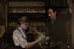 This is for a Beekeeper's Apprentice art-trade with [link] The idea was to show Russ and Holmes working in Holmes' lab. I kind of liked the way Holmes. Sherlock Mary, Sherlock Holmes, Detective, Jeremy Brett, Sherlolly, Photoshop Cs5, I Love Reading, Baker Street, Fun At Work