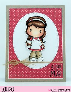 Latte Lucy, C.C. Cutters Make-a-Card Die #5