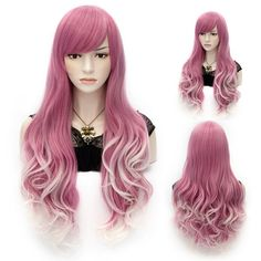 $15.18 Ombre Side Bang Stylish Lolita Long Wavy Heat Resistant Synthetic Capless Cosplay Wig For Women