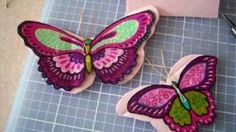 Fabric Butterfly Necklace Tutorial