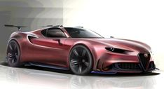 We'd Love To See This Alfa 4C Concept As An 8C Competizione Successor #news #Alfa_Romeo