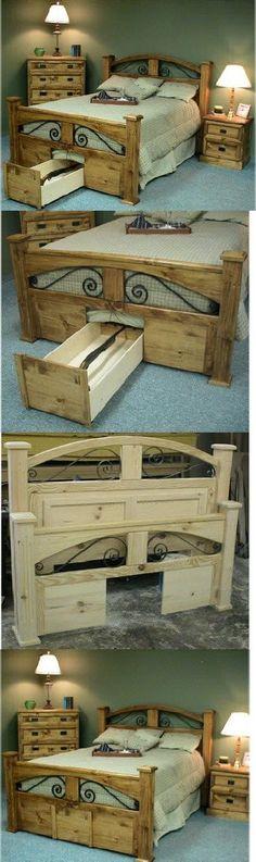 Secret gun drawer under bed