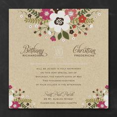 Summer Wedding Ideas - Charming Posies Invitation | Occasions In Print, LLC (Invitation Link - http://occasionsinprint.carlsoncraft.com/Wedding/Wedding-Invitations/3254-TWS33364-Charming-Posies-Invitation.pro)