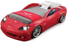 AmazonSmile: Step2  Corvette Bed with Lights - Red/Silver/Black: Toys & Games