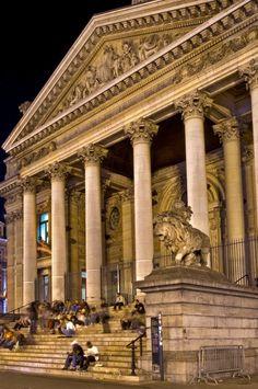 Stock Exchange De Beurs-La Bourse Brussels Belgium