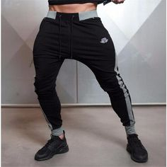 Hot sales new Brand Men's Casual Elastic Embroidered Pants Stretch Cotton Men's Pants Body Jogger Bodybuilding