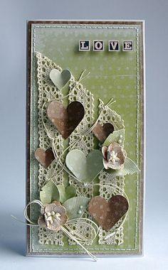 Lace ribbon and hearts