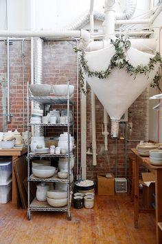unexpected guests: sarah kersten's ceramics studio / sfgirlbybay
