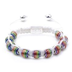 Rainbow Pride Charmballa bracelet from Joseph Nogucci  #charmballa, #armcandy,  #love, #beautiful, #summer, #bracelets, #armparty, #fun, #rainbow, #pride, #lgbt, #josephnogucci, #new, #like