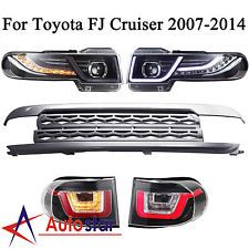 New For Toyota FJ Cruiser 2007-2014 LED Headlights + Tail Lights + Grille Set