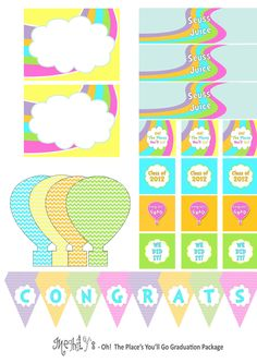 Oh The Places You'll Go Printable Package by Meghilys on Etsy