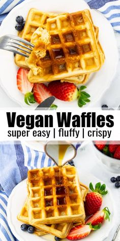 Quick Vegan Meals, Vegan Lunch Recipes, Vegan Breakfast Recipes, Delicious Vegan Recipes, Dairy Free Recipes, Brunch Recipes, Sweet Recipes, Yummy Food, Best Vegan Desserts