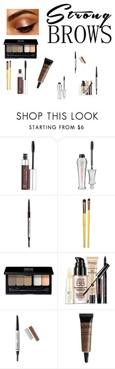 """Strong Brows"" by chauert ❤ liked on Polyvore featuring beauty, Anastasia Beverly Hills, Benefit, Marc Jacobs, Measurable Difference, MAKE UP FOR EVER and NYX"