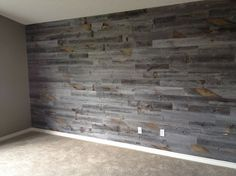 Awesome Accent Wall Ideas Can You Try at Home Stikwood. I love this product. Have it in my master bedroom and on the fireplace wall of my living room. Weathered Wood, Barn Wood, Reclaimed Wood Walls, Wood On Walls, Wood Accent Walls, Reclaimed Wood Wallpaper, Unique Home Decor, Home Decor Items, Pallet Walls