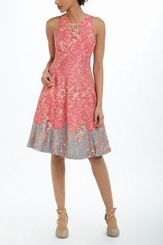 Mother of the Bride - Tracy Reese Pink Gold Brocade Dress (also worn by Michelle Obama)