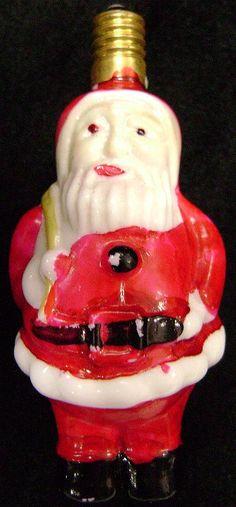 1950s Figural Santa Claus Christmas Light Bulb found on Ruby Lane