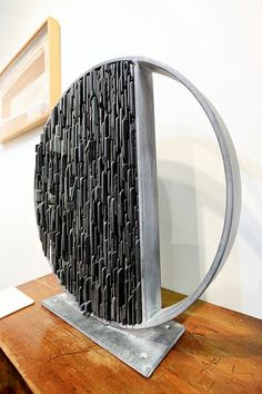 Division, by Tom Stogdon www.tomstogdon.com. Made from slate and steel.