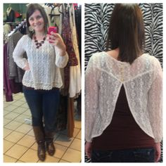 High-low ombre top!