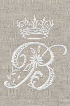 Personalize any project with these exquisite monograms. Each detailed letter is reminiscent of antique white work hand embroidery. Use the stunning whitework flowers by themselves or as accents to the monograms. Embroidery Monogram, Hand Embroidery Stitches, Embroidery Fonts, Crewel Embroidery, Embroidery Techniques, Cross Stitch Embroidery, Machine Embroidery Designs, Embroidery Patterns, Monogram Design