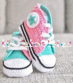 Hey, I found this really awesome Etsy listing at https://www.etsy.com/listing/207077651/baby-converse-crochet-handmade-baby