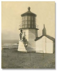 Cape Meares Lighthouse, Oregon coast, late 1800s