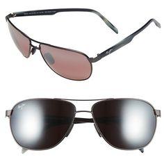 1230f6a61b3 Men s Maui Jim  Castles - Polarizedplus2  61Mm Aviator Sunglasses ( 299) ❤  liked on Polyvore featuring men s fashion