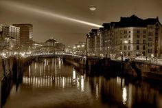Laserlight over Hamburg