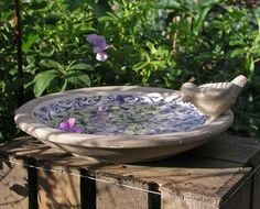Small Ceramic Bird Bath