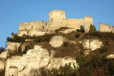 Château-Gaillard,l'Ain, Rhone-Alps. Sometimes called the jewel of Andelys, overlooking the town of same name. Ruins of the castle begun in the 12th century.