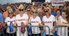 Examines the role of white identity politics in the election of Donald Trump.