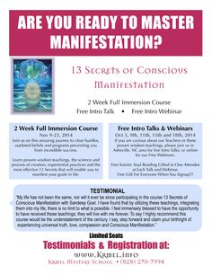 http://krmel.info Are you Ready to Master Manifestation?