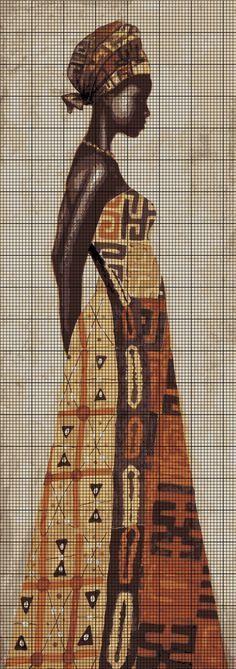 Mulher africana no ponto de cruz                                                                                                                                                     Mais