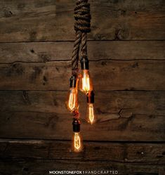 The Hydra Pendant Light - Industrial Rope Chandelier - Swag Ceiling Lamp - Accent Hanging Light - Rustic Light - Edison Bulb Statement by MoonStoneFox on Etsy https://www.etsy.com/ca/listing/272208082/the-hydra-pendant-light-industrial-rope