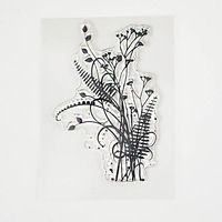 1PCS Flower Plants Transparent Stamp DIY Scrapbooking/Christmas Decoration Supplies/Card Making