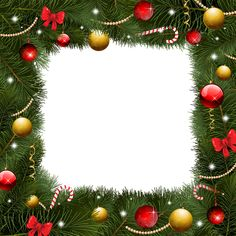 Christmas Transparent Border PNG Frame