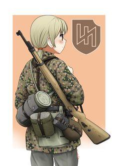 SS Panzer Division Das Reich by Maridjan-kirisame on DeviantArt Anime Military, Military Girl, Guerra Anime, Military Archives, Warrior Drawing, German Soldiers Ww2, War Thunder, Digital Art Girl, Girls Frontline