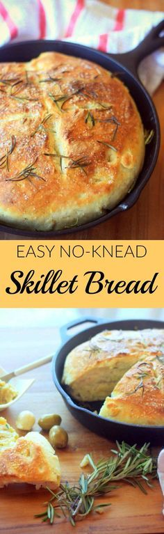 Easy No-Knead Skille