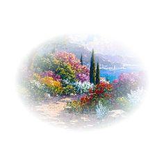 Blog de l'ile de kahlan - tubes paysages ❤ liked on Polyvore featuring tubes, backgrounds, landscape, scenery and flowers