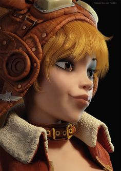 This is a fan art piece of Fourmille Gratule, the main character of the French comic book series Ekho, made by Arleston and Barbucci. The design is made by Barbucci. She is sculpted and polypainted in zbrush and textured and rendered in vray, maya. 3d Model Character, Character Modeling, Character Creation, Character Concept, Character Art, Concept Art, Character Design, Girls Characters, Comic Book Characters