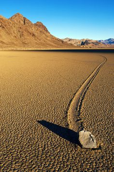 Photo about Moving stone in the desert of Death Valley national park, California, USA. Image of heat, landscape, forward - 12730583 Death Valley California, California Usa, California Tourist Attractions, Desert Ecosystem, Beautiful Places In America, Death Valley National Park, Travel Usa, Travel Tips