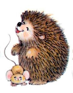 Vintage HALLMARK Miniature Gallery Cute Critters by Ruth J. Morehead with cutest Hedgehog