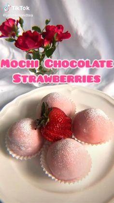 Easy Snacks, Healthy Snacks, Healthy Recipes, Tasty Videos, Food Videos, Hacks Videos, Easy Baking Recipes, Cooking Recipes, Chocolate Strawberries