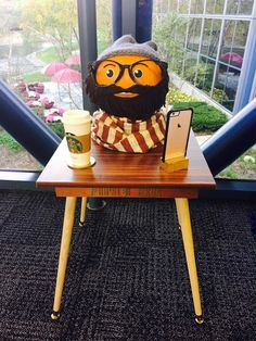 My hipster was cool before yours was. Halloween Goodies, Holidays Halloween, Halloween Themes, Halloween Pumpkins, Halloween Fun, Halloween Decorations, Pumpkin Decorations, Halloween Costumes, Pumpkin Decorating Contest