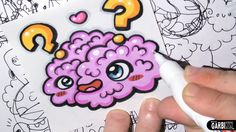 Kawaii Brain - How To Draw Kawaii - Easy drawings by Garbi KW