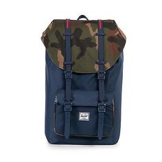 Herschel Supply Co. Little America Backpack in Navy/Woodland Camo/Red Free Ship   US $89.99