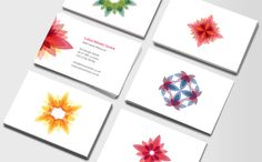 Kaleidoscope Flowers - business card design on Moo, by Jovanna Mendes de Souza