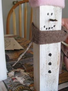 Floralshowers | Craft a Wooden Snowman | FloralShowers Craft Blog